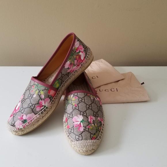 c9ae93b14e6 Gucci Shoes - Gucci Blooms Supreme Espadrilles